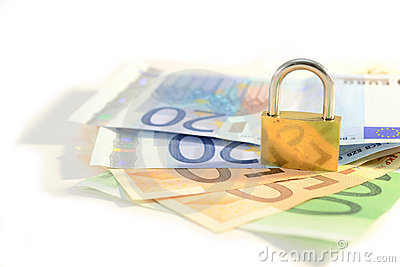 Padlock and money
