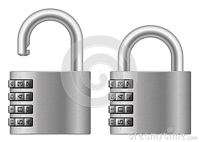 Padlock with numeral lock wheel