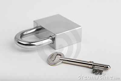 Padlock and one key