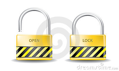Padlock open and close