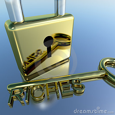 Padlock With Riches Key