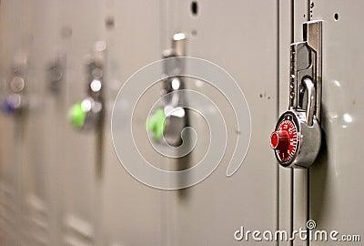 Padlock Security on a School Locker
