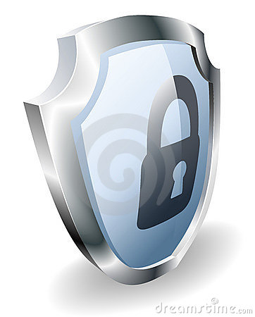 Padlock shield security concept