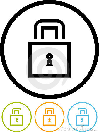 Padlock - Vector icon isolated on white