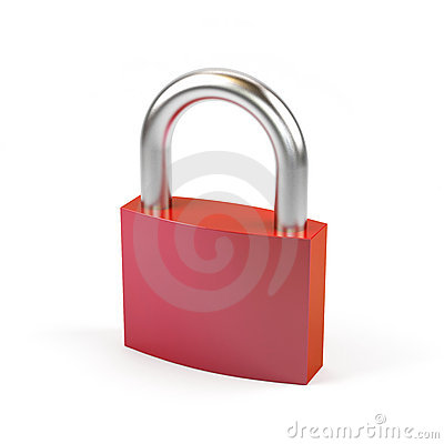 Padlock on a white background.