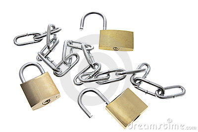 Padlocks and Chain