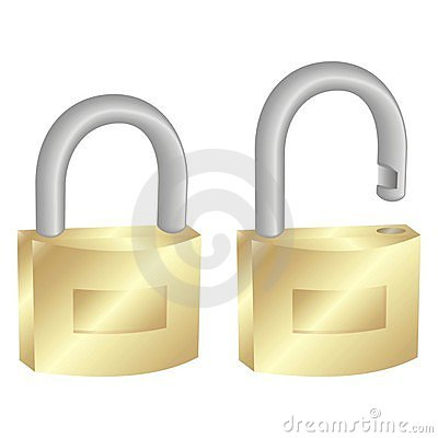 Free Padlocks, Closed And Opened Stock Images - 2575184