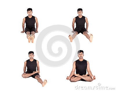 Padmasana step by step