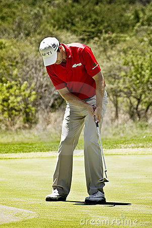 Padraig Harrington on the 7th Green - NGC2010 Editorial Image
