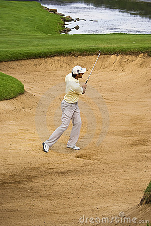 Padraig Harrington - Bunker Shot - NGC2010 Editorial Photo