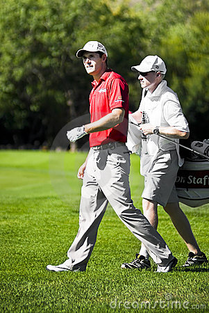 Padraig Harrington and Caddie - NGC2010 Editorial Image