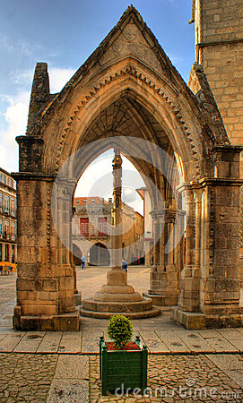 Padrao do Salado monument in Oliveira square, Guimaraes, Portugal