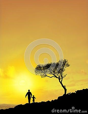 Padre e hijo (cielo de Sun)