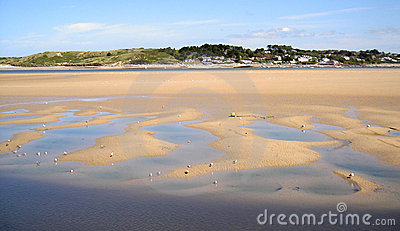 Padstow Beach in Cornwall, England