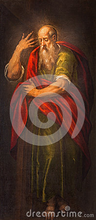 Free Padua - The Paint Of St. Paul The Apostle In Church Santa Maria Dei Servi. Royalty Free Stock Image - 45177236