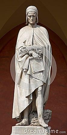 Free Padua - The Statue Of Dante Alighieri In The Porch Of The Lodge Amulea By Vincenzo Vela Stock Photo - 45179220