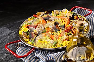 Paella espagnole traditionnelle une margarita de la photo stock image 66457030 - Paella recette traditionnelle ...