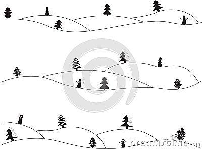Paesaggi semplici di natale illustrazione vettoriale for Disegni paesaggi semplici