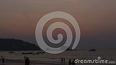 Paesaggio al tramonto a Phuket video d archivio