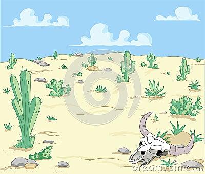 Paesaggio del deserto