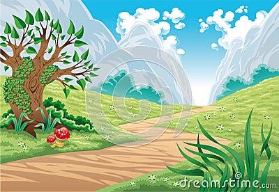 Paesaggio della montagna