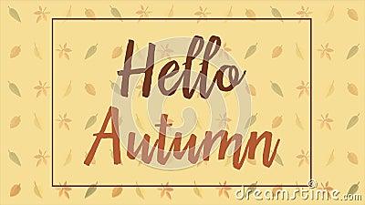Paesaggio di autunno con gli ambiti di provenienza del backgroundAutumn di animazione delle foglie di autunno con l'animazione de royalty illustrazione gratis