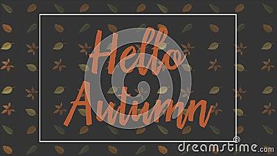 Paesaggio di autunno con gli ambiti di provenienza del backgroundAutumn di animazione delle foglie di autunno con l'animazione de illustrazione vettoriale