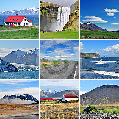 Paesaggio islandese - collage
