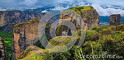 Paesaggio stupefacente a Meteora