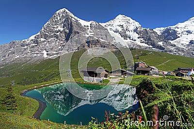 Paesaggio svizzero delle alpi