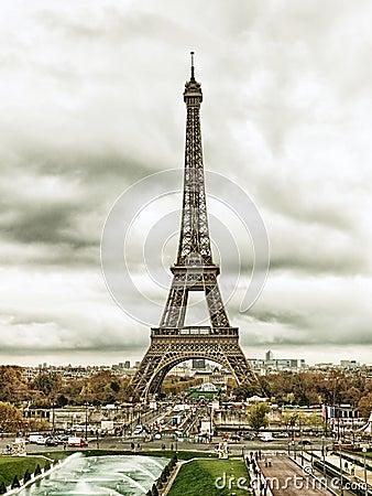 Paesaggio urbano di parigi con la torre eiffel immagine for Parigi non turistica