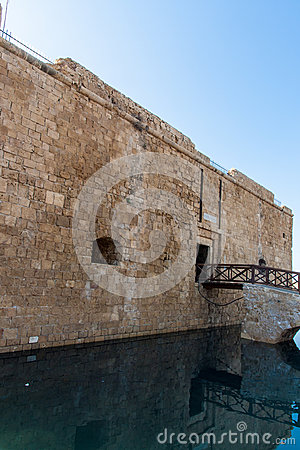 Pafos Castle on water