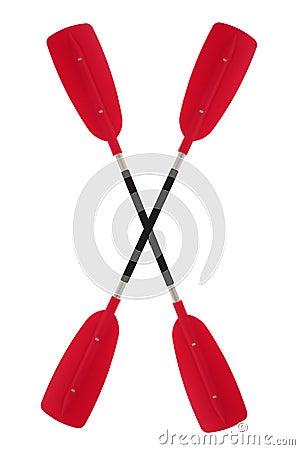 Pagaia, palette de kayak d isolement sur le fond blanc