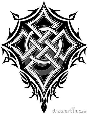 Pagan drawing. Vector Illustration