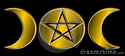 Pagan Moon Phases - Gold )O(