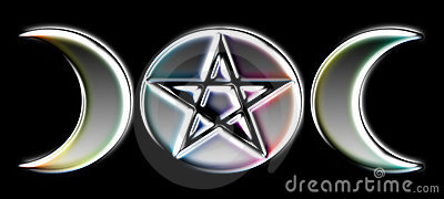 Pagan Moon Phases - Silver )O(