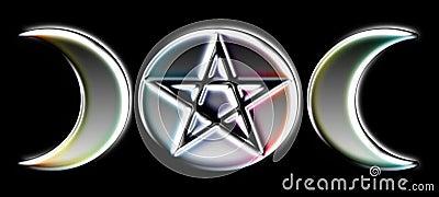 Pagan Moon Phases - Silver )O(
