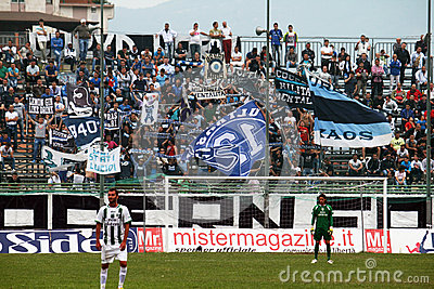 Paganese supporters Editorial Stock Photo