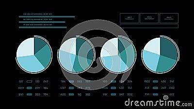 Page animée abstraite de rapport de données