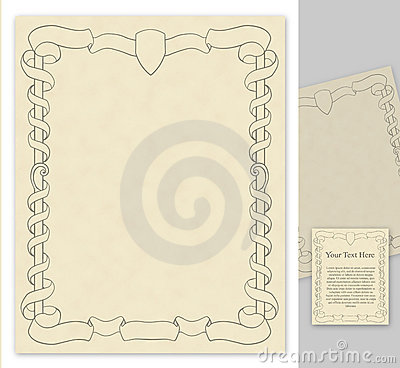 Page with antique styled decorations