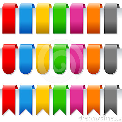 Free Page Bookmarks Or Labels Set Stock Image - 24426851