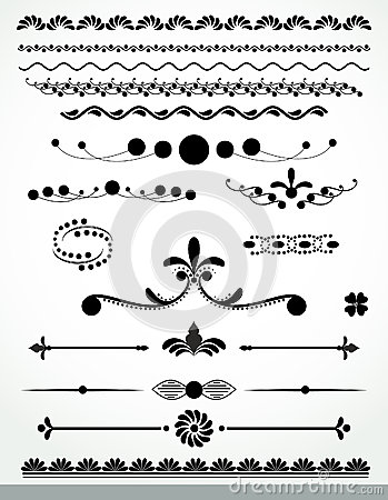 Page decorations, Black and WhiteCollection
