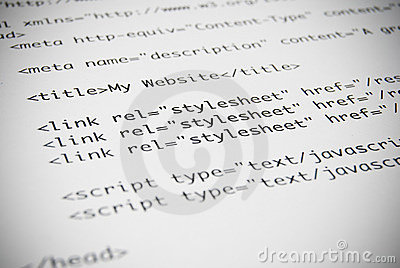 Page of HTML Code