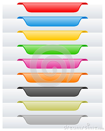 Free Page Labels Or Tags Set Stock Image - 26195141