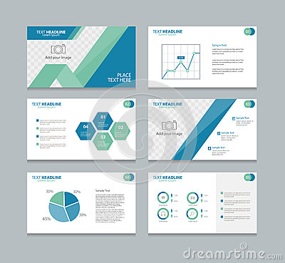 Page Presentation Layout Design Template Stock Vector - Image ...