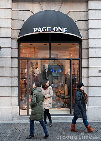 Page one shop at Han street Editorial Image