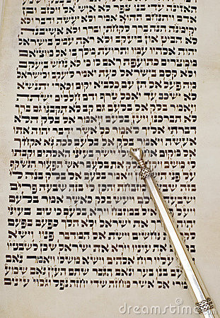 Page of torah and yad
