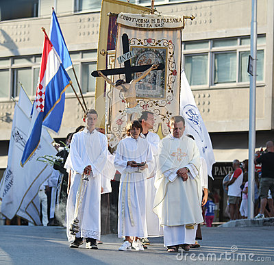 Pageantry for Assumption of Mary Editorial Photo