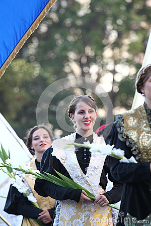Pageantry for Assumption of Mary Editorial Photography