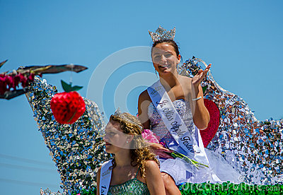 Pagent roaylty on a float Editorial Stock Image